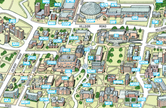 Uconn Campus Map Home | Faculty & Staff Uconn Campus Map